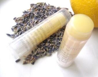 Natural Lip Balm for men or women - relax with Lavender Lemon lip balm gift for him her, garden gardener's gift lavender lip balm refreshing