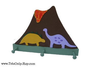 Dinosaur Wall Peg Rack