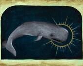 Art Print 5x7: Mystic Whale