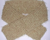 wooly knit scarf - yellow