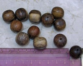 CARVED WOOD BEADS - PACK OF 12