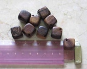DICE WOOD BEADS - PACK OF 9