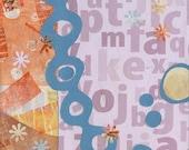 The Origin of Letters - original mixed-media print collage