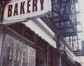 Polaroid Print 8x8 - New York City Bakery Sign - Fine Art Photography
