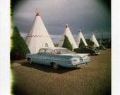 Polaroid Print 8x8 - Route 66 Wigwam Motel - Fine Art Photography