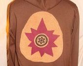 Organic Cotton Hoodie with Lotus patch made from organic cotton and hemp fabrics Available for custom order