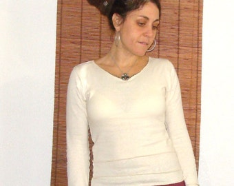 Organic Cotton and Hemp knit Jersey top  Custom made and hand dyed just for you