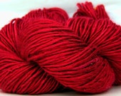 HandSpun Bamboo Yarn Cherry Bomb Red