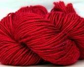 HandSpun Bamboo Yarn Cherry Bomb Red
