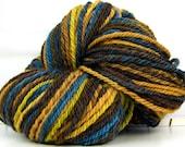 HandSpun 3ply Yarn superwash merino wool Giles 150 yards 4 ounces worsted weight