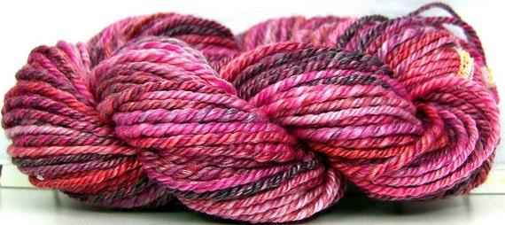 HandSpun 3ply Yarn Merino Wool Tencel - Sakura - 72 yards 2.1 ounces dk weight