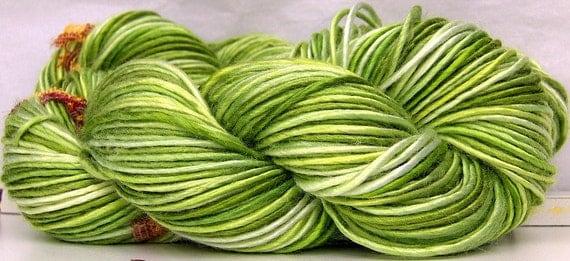 RESERVED Bamboo HandSpun Yarn Lettuce Be Green Custom Spin to Order