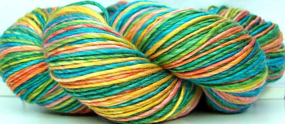 HandSpun Yarn Merino Wool and Tencel CopaCabana 231 yards