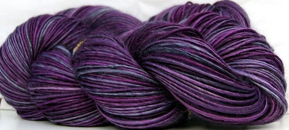 HandSpun Bamboo Yarn Plum Paradise yarn Spin to Order will be shipped AFTER Christmas