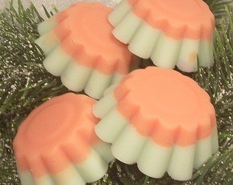 Pear Basil and Black Tea Scented Candle Tarts - Set of 4