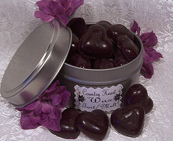 Highly Scented Wax Tarts/Melts - Tin of 30 Mini Hearts