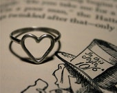 Heart Ring - Sterling Silver - Love