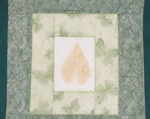 Leaf Imprint Quilt (Wall Hanging)