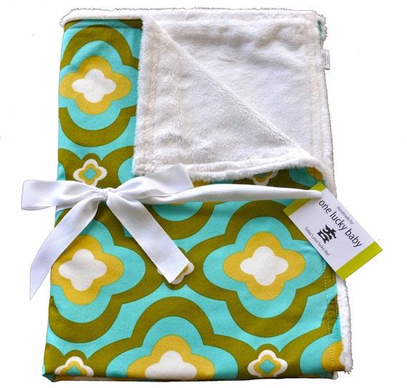 OLIVE YOU Minky Baby Blanket