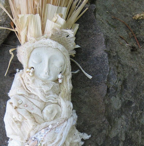 OOAK, Gypsy Moon Bohemian Art Doll, Romantic, Bridal Gothic Art Doll