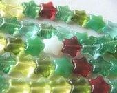 25 Czech Glass Beads Star Kismet Mix 12mm