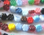 25 Czech Glass Beads Flat Flower Patchwork Mix 8\/4mm