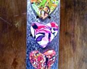 Scrap Hearts Magnet Trio - Polymer Clay
