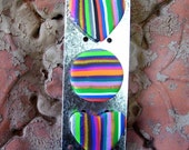 STRIPED HEARTS and CIRCLE Magnets 3pk