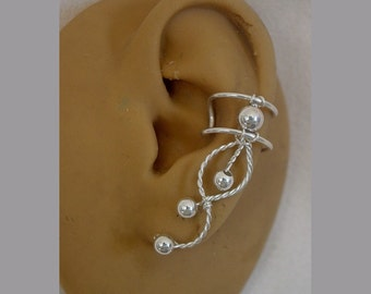Sterling Silverfilled Single Ear Cuff - Right or left