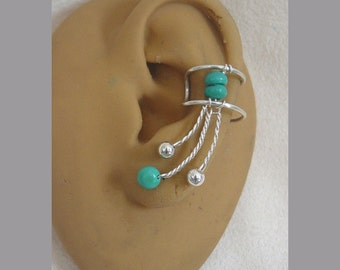 Pair of Turquoise Ear Cuffs