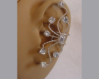 Rhinestone Single Ear cuff in your choice of wire