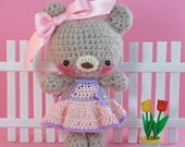 Mini Apple Cheek Ami Bear (Fawn Mohair)