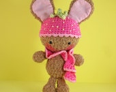 Sweet Strawberry Amigurumi Bunny (Chocolate)