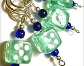 Las Vegas (green) - hand made stitch markers - set of 4