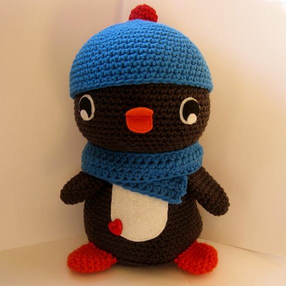Huggable Amigurumi Penguin - PDF crochet pattern