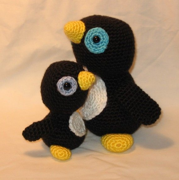 Crochet Pattern Baby Penguin and His Mommy