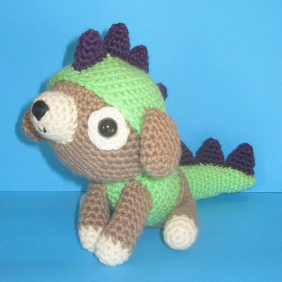 Amigurumi Dog Tail : Im a Dragon amigurumi plushie