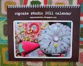 SALE PRICE 2011 cupcake studio wall calendar