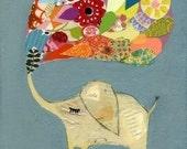 little lucky light blue elephant