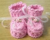 Cross your heart booties - PDF Crochet PATTERN for sale