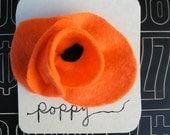 orange POPPY pin