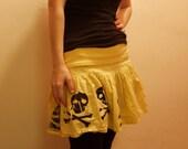 yellow JOLLY ROGER  skirt