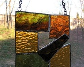 Earth Tone Glass Suncatcher