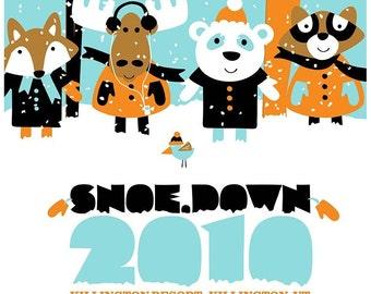 Screenprint Show Poster - Moe Snoe.down hand screenprinted - limited edition silk screen