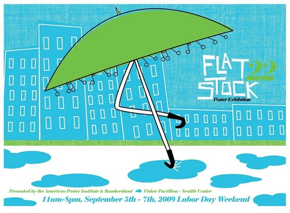 Flatstock 22 Seattle - hand screenprinted limited edition poster