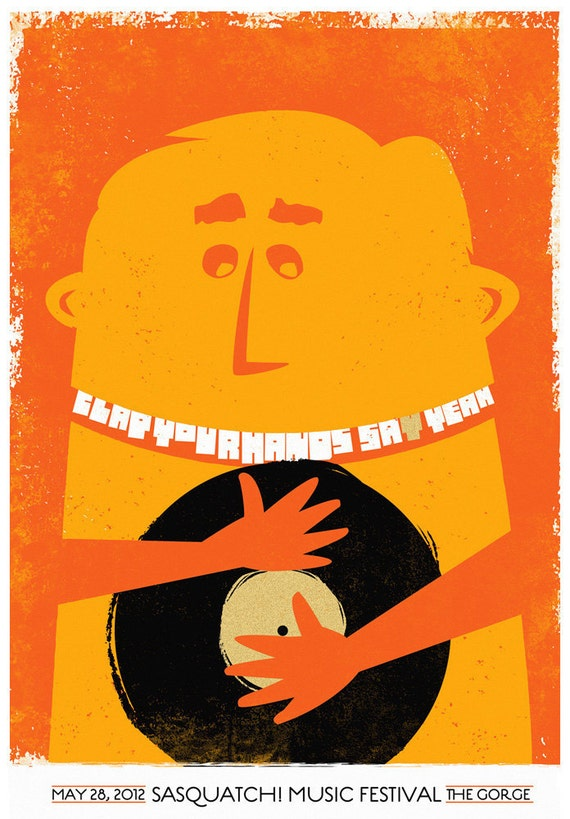 Screenprint Poster - Clap Your Hands Say Yeah - Hand Pulled Silkscreen Print