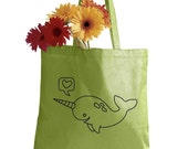SALE Narwhal Tote Bag