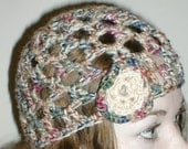 The 'hOley mOley' cloche style crochet hat - with flower accent