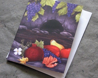 Autumn Equinox Note Card, Satin Finish