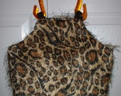 Shaggy Leopard Print Purse Handbag